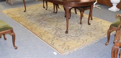 Lot 1072 - A Melas carpet, the narrow field of cruciform devices enclosed by multiple borders, 323cm by 202cm