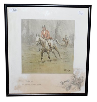 Lot 1076 - Charles Johnson Payne ''Snaffles'' (1884-1967) ''Merry England'' Signed, print with the...