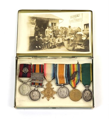Lot 3 - A Boer War/First World War Group of Six Miniatures, comprising Distinguished Conduct Medal with...