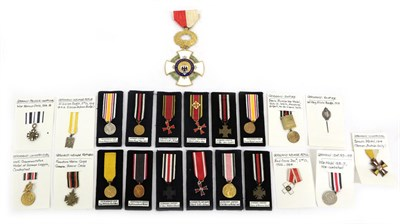 Lot 4 - A Collection of Twenty One Miniature Medals, mainly Imperial German, including Hindenburg...