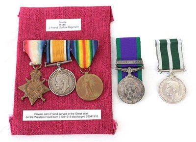 Lot 5 - A First World War Trio, comprising 1914/15 Star, British War Medal and Victory Medal, awarded...