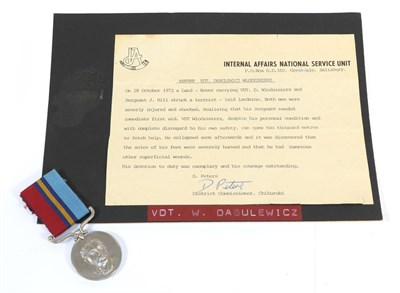 Lot 7 - Unit Citation Certificate & Rhodesian General Service Medal, to 66898P VDT Dabulewicz...