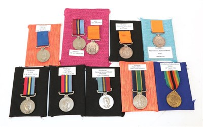 Lot 8 - A Collection of Nine Rhodesian Medals:- District Service Medal to 367137L D.S.A. J.KAMPAUNDI; a...