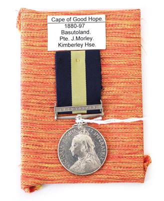 Lot 9 - A Cape of Good Hope General Service Medal, with clasp BASUTOLAND, awarded to...