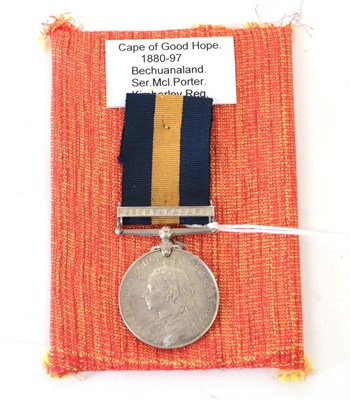Lot 10 - A Cape of Good Hope General Service Medal, with clasp BECHUANALAND, awarded to SER.McL.PORTER....