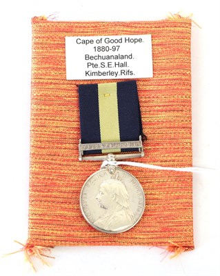 Lot 11 - A Cape of Good Hope General Service Medal, with clasp BECHUANALAND, awarded to...