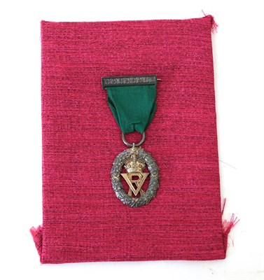 Lot 12 - A Volunteer Officer's Decoration (VR), silver hallmarks for London 1892