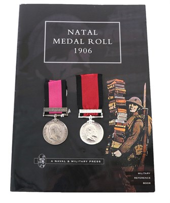 Lot 22 - A Natal Rebellion Medal, with clasp 1906, with impressed naming to TPR.T.SERJEANT, UMVOTI...
