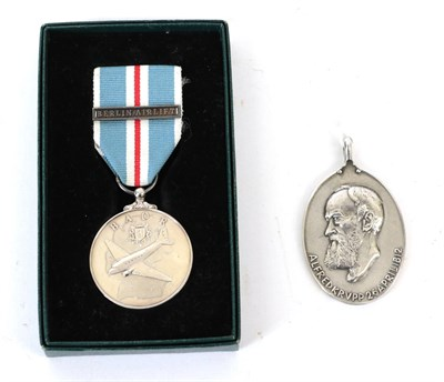 Lot 27 - A British Army of the Rhine Medal, with clasp BERLIN AIRLIFT, in box of issue; an Alfred Krupp...