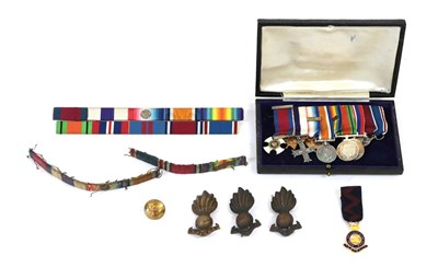 Lot 30 - A First/Second World War DSO, MC Group of Miniature Medals, comprising Distinguished Service Order