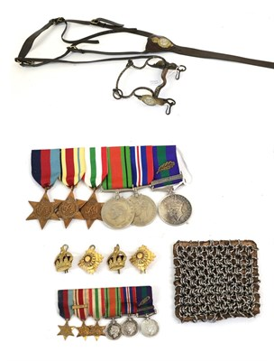 Lot 31 - A Second World War Group of Six Medals, awarded to MAJOR M.L.E. HEATHCOTE 17.21.L, comprising...