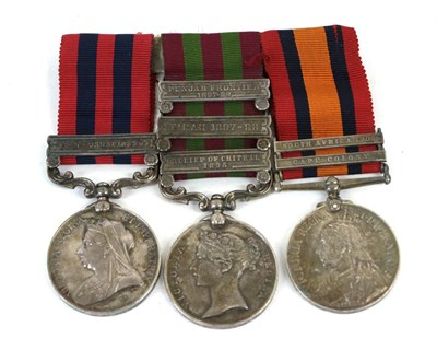 Lot 33 - Three Victorian Campaign Medals, comprising India General Service Medal 1854 to Lieutt.N.G....