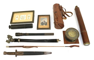 Lot 36 - A Second World War Sighting Telescope, with black enamelled brass body, marked No 22D Mk1 A.K &...