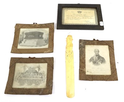 Lot 37 - An Invitation to the Funeral of the Late Field Marshal The Duke of Wellington, K.G., to Captain...