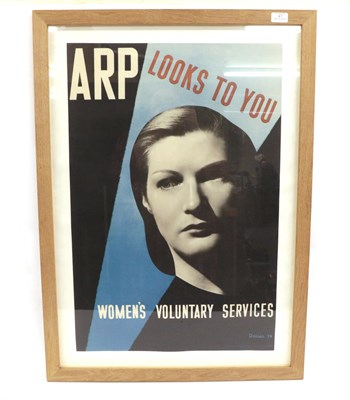 Lot 41 - A Second World War Air Raid Precaution Recruitment Poster Promoting the Women's Voluntary Services