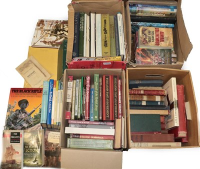 Lot 54 - A Quantity of Military Related Books, including naval history, mechanical arms, Brassey's...