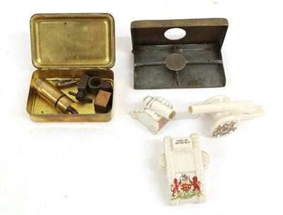 Lot 57 - A Small Quantity of Militaria, comprising a Princess Mary 1914 Christmas Tin, a Royal Observer...