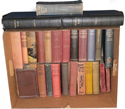 Lot 58 - A Collection of Thirty First World War Related Books, mainly first editions, including Captain...
