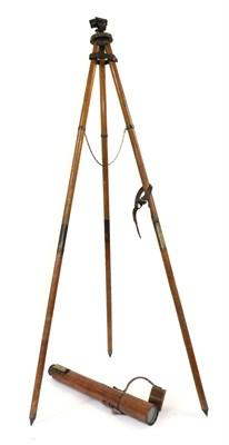 Lot 64 - An Edwardian 2'' Lacquered Brass Two Draw Artillery Field Telescope, with cross hair reticle,...