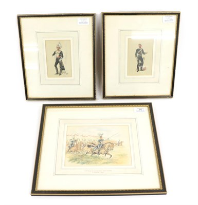 Lot 68 - C Clarke - 17th Duke of Cambridge's Own Lancers, signed and dated (18)95, watercolour, 14cm by...