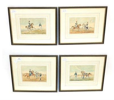 Lot 69 - After G Salisbury, 1832 - ''Officers, Review Order, Private, Field-day Order, Officer, Stable...