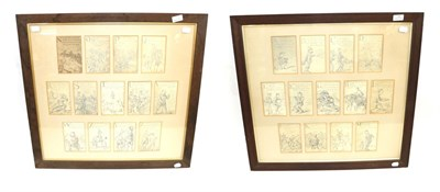 Lot 71 - A Set of Twenty-Four First World War Comic Alphabet Black and White Prints, showing military...
