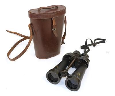 Lot 72 - A Pair of Second World War CF41 7X Naval Binoculars by Barr & Stroud, marked A.P No.1900A,...