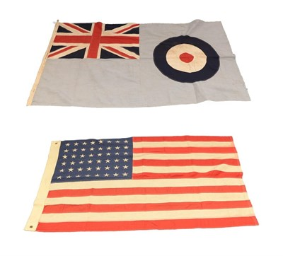 Lot 80 - A Second World War U.S. Norfolk Naval Shipyard Flag, of stitched linen panels and with...