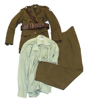 Lot 87 - A Second World War No.2 Service Uniform to Captain William Webster R.A.S.C., Service Number 128942