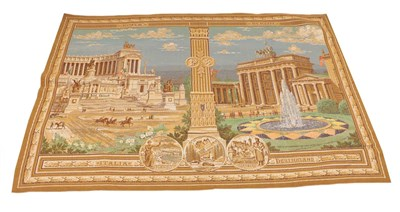 Lot 88 - A German Third Reich Machine Woven Tapestry Panel, made to show the alliance between fascist...