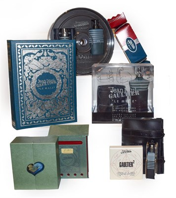 Lot 3 - Four Jean Paul Gaultier perfumes including Le Male 75ml eau de toilette boxed with a black...