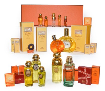 Lot 16 - Assorted Hermes dummy factices and scent bottles, some boxed including Caleche, 24 Fauborg,...