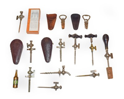 Lot 19 - A collection of assorted champagne taps of various designs and makers