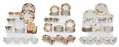 Lot 31 - A comprehensive Edwardian Duchess china teaset (58 pieces) together with a 19th century hand...