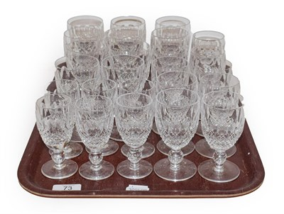 Lot 73 - A part suite of Waterford crystal comprising twenty five glasses of various size, comprising;...