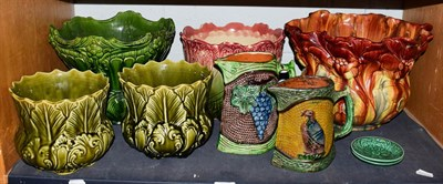 Lot 78 - Five various jardiniere's including Bretby model 1222K, 24cm high by 34cm together with two...