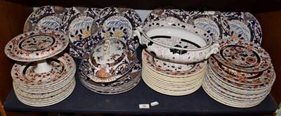 Lot 90 - A Victorian A.Brothers Ironstone part dinner service, comprising twelve dinner plates, twelve...
