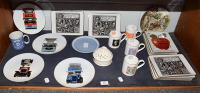 Lot 91 - Royal Mail fine porcelain collector plates depicting stamps, mugs, Wedgwood collector plates...