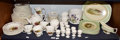 Lot 97 - A quantity of Wedgwood Drury lane pattern dinner and tea wares together with a Woods ivory ware...