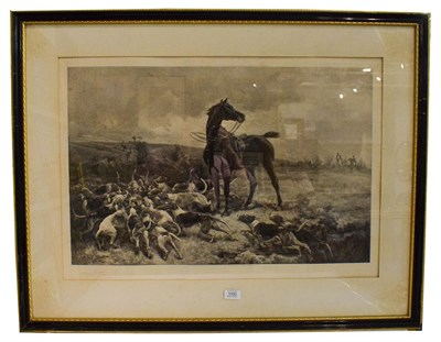 Lot 1000 - After Alfred Strutt, the Hounds with their Prey, signed print, 52cm by 75cm