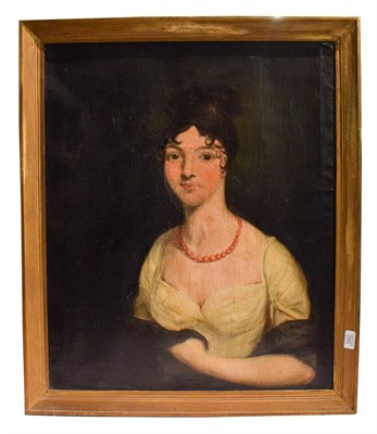 Lot 1003 - English school (18th/19th century) Portrait of a lady, oil on canvas, 74cm by 61cm Provenance:...