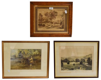 Lot 1009 - After Claude, an early print of a work from the collection of the Duke of Devonshire, 21cm by...