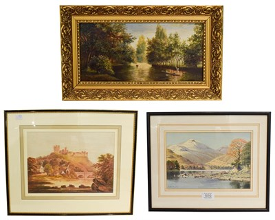 Lot 1010 - Geoffrey H Pooley (b.1908) Causey Pike over Derwent Water, signed, watercolour, together with F...
