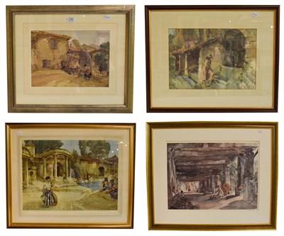 Lot 1020 - A collection of William Russel Flint (1880-1969) framed glazed prints, depicting European...