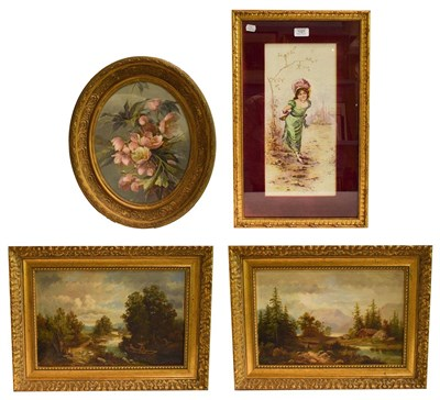 Lot 1021 - Charles Duval (19th / 20th century) French, pair of European landscapes, oils on canvas signed...