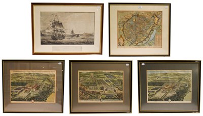 Lot 1022 - A collection of 19th century prints and engravings to include a two views of Ingleby Manor,...
