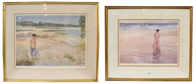 Lot 1027 - After William Russel Flint (1880-1969) two framed and glazed limited edition prints, largest...