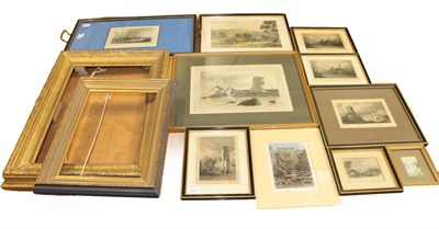 Lot 1031A - A collection of late 19th and early 20th century prints, including sea views and landscapes,...