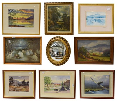 Lot 1039 - A collection of 19th and 20th century prints and works on paper, landscapes and one after John...