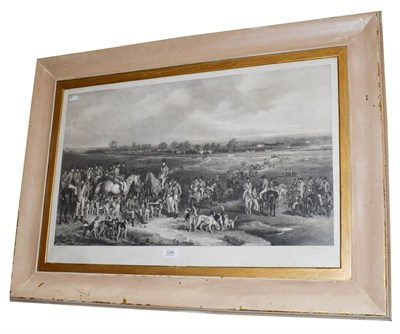 Lot 1046 - After Francis Grant, the Meeting of the Royal Hounds on Ascot Heath, print, 49cm by 76cm